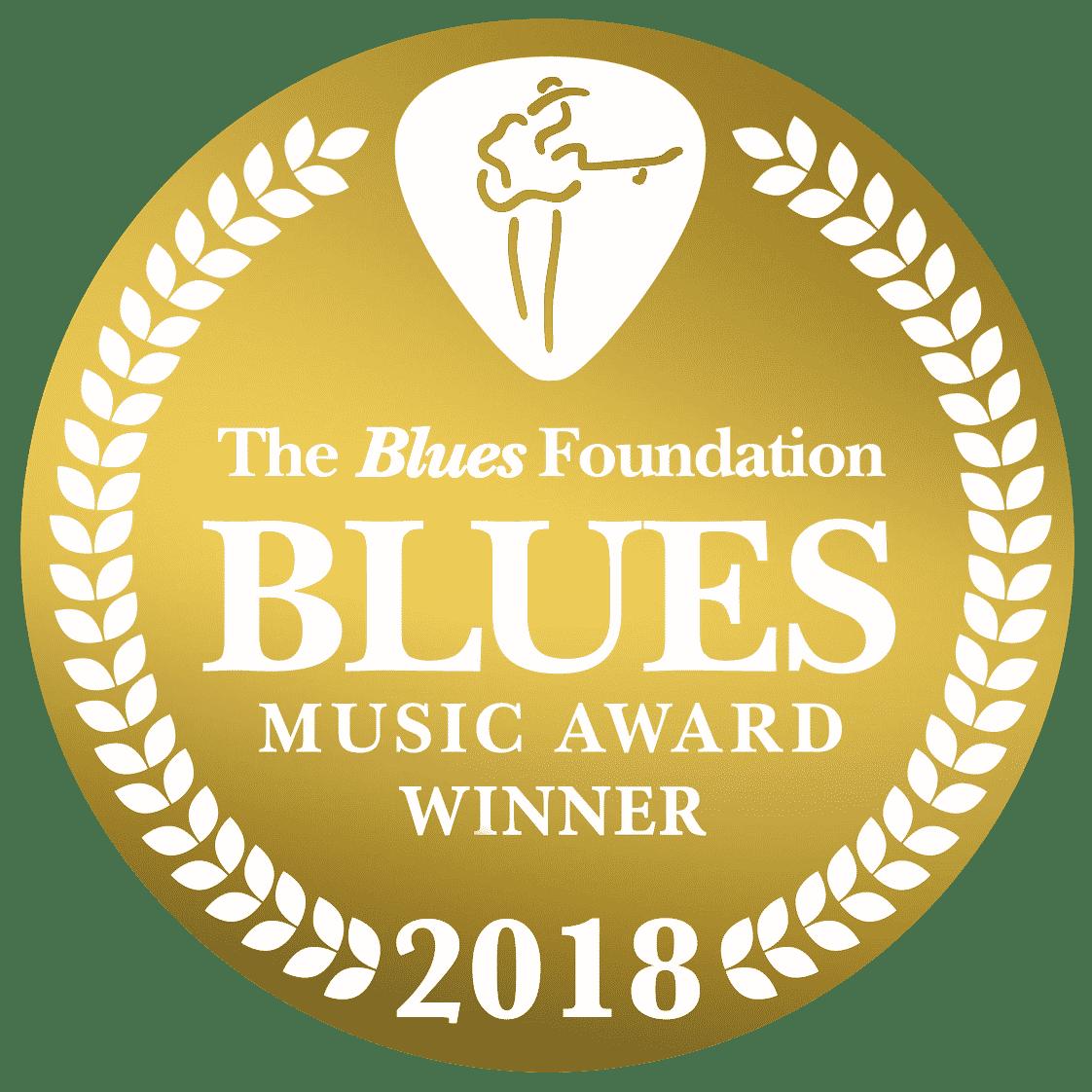 2018 Blues Music Award Winner Badge